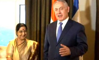 Sushma calls on Israeli PM