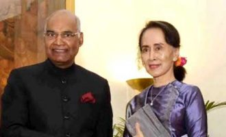 HE Daw Aung San Suu Kyi State Counsellor of Myanmar, called on the President of India, Ram Nath Kovind