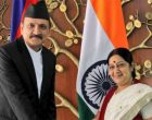 Sushma meets Prachanda in Nepal