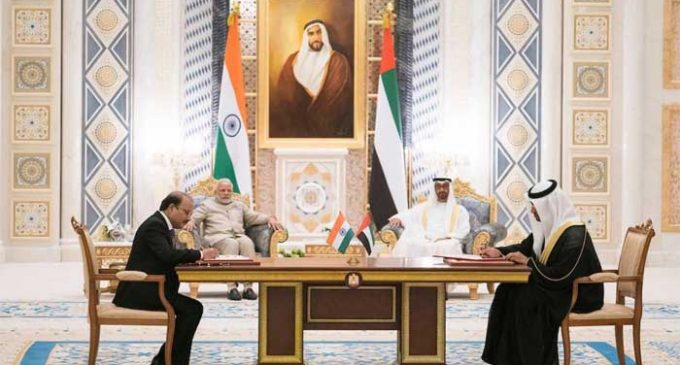 India, UAE sign five MoUs as Modi makes second visit