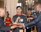 Mr. Andre Poh, Ambassador-designate of Republic of Congo presenting his credential to the President of India, Shri Ram Nath Kovind