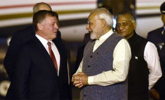 Modi breaks protocol, receives Jordan King at airport