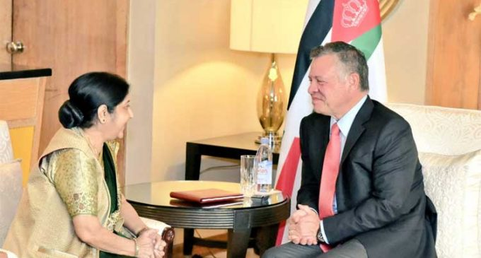 External Affairs Minister Sushma Swaraj calls on Jordan King