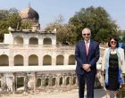 US Ambassador visits Qutb Shahi Tombs to see restoration work
