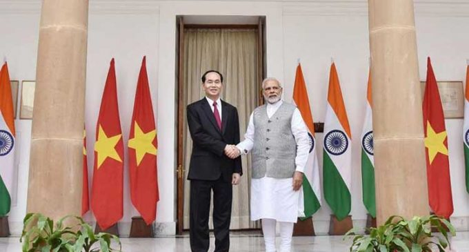 Modi receives Vietnam President ahead of talks