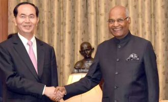 President of the Socialist Republic of Vietnam, Tran Dai Quang calling on the President, Ram Nath Kovind