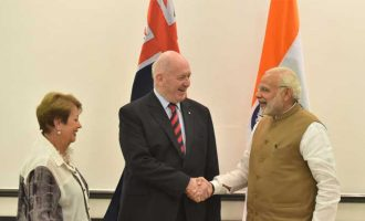 The Governor General of Australia, Sir Peter Cosgrove meeting the Prime Minister, Shri Narendra Modi