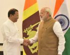 Prime Minister, Shri Narendra Modi meeting the President of the Democratic Socialist Republic of Sri Lanka, Mr. Maithripala Sirisena,