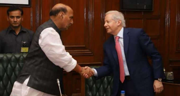 US Ambassador meets Rajnath
