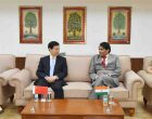 Minister for Commerce & Industry and Civil Aviation, Suresh Prabhakar Prabhu and the Minister of Commerce, China, Zhong Shan
