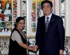 Sushma Swaraj calls on Japanese PM