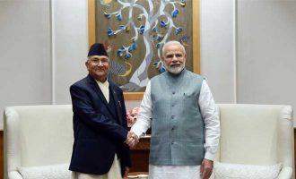 The Prime Minister of Nepal, K.P. Sharma Oli calls on the Prime Minister, Narendra Modi, in New Delhi.
