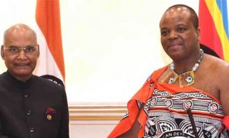 The President, Shri Ram Nath Kovind meeting with His Majesty Mswati III, the King of Swaziland,