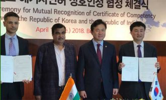 India signs MoU with Korea on seafarers