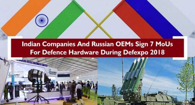 Indian, Russian companies signs 7 defence related agreements