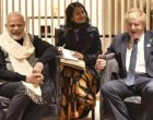 Prime Minister, Narendra Modi meeting the UK Foreign Secretary, Boris Johnson