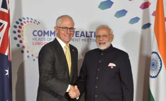 The Prime Minister, Shri Narendra Modi meeting the Prime Minister of Australia, Mr. Malcolm Turnbull,