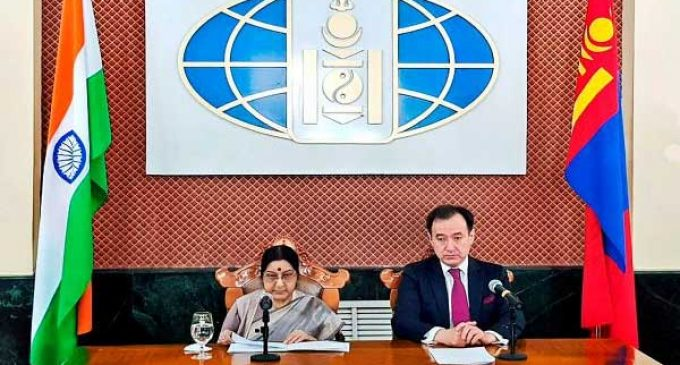 India, Mongolia agree to jointly fight terror, boost trade