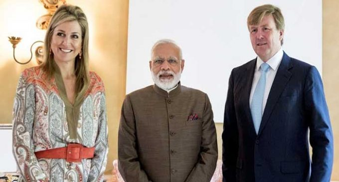 Modi meets Queen of Netherlands