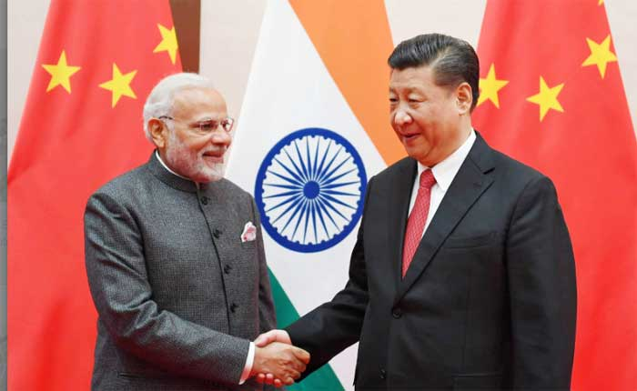 The Prime Minister, Narendra Modi meeting the President of the People's Republic of China, Xi Jinping, on the sidelines of the Shanghai Cooperation Organisation (SCO) Summit, in Qingdao, China on June 09, 2018.