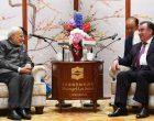 The Prime Minister, Narendra Modi meeting the President of the Republic of Tajikistan, Emomali Rahmon