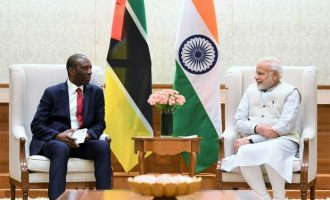 Prime Minister of Mozambique, Carlos Agostinho do Rosario calls on the Prime Minister, Narendra Modi,