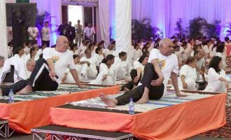 PRESIDENT OF INDIA PARTICIPATES IN THE FOURTH INTERNATIONAL YOGA DAY CELEBRATIONS IN SURINAME