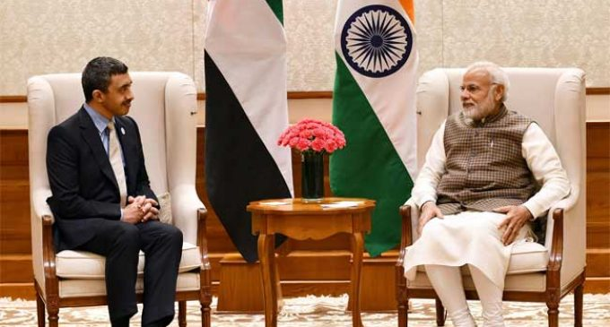 UAE minister meets Modi, discusses bilateral cooperation