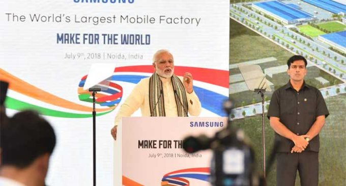 Samsung to make India a global export hub: Modi