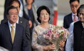 South Korean President arrives on a four-day state visit