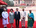 S.Korean President accorded ceremonial welcome