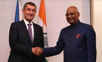 The President of India, Ram Nath Kovind, called by Andrej Babis, Prime Minister of Czech Republic