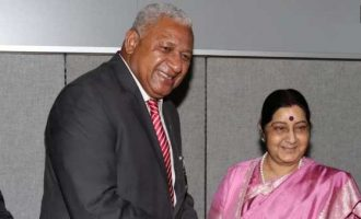 Sushma, Fiji PM discuss defence cooperation