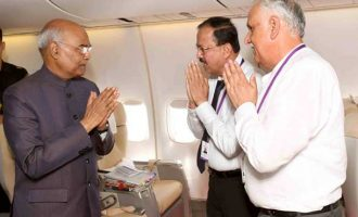 President Kovind leaves Tajikistan for 3 day trip