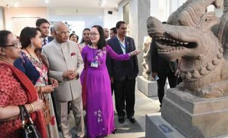 The President, Ram Nath Kovind visiting the Museum of Cham Sculpture, at Da Nang, in Vietnam