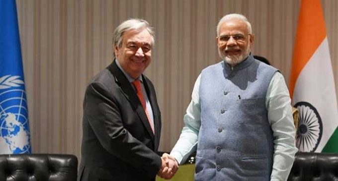 Guterres thanks Modi for raising India's contribution to climate change pact