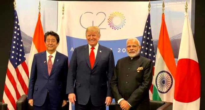 Modi terms Japan-US-India partnership as 'JAI', says it means success