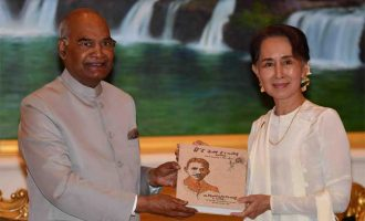 President of India, Ram Nath Kovind, meeting with the Daw Aung San Suu Kyi, State Counsellor