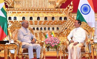 INDIAN PRESIDENT KOVIND IN NAY PYI TAW, HOLDS MEETINGS WITH PRESIDENT AND STATE COUNSELLOR OF MYANMAR