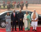 President of India, Ram Nath Kovind During the ceremonial reception of the President of Republic of Maldives