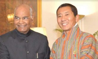 Dr. Lotay Tshering Prime Minister of the Kingdom of Bhutan called on the President of India, Shri Ram Nath Kovind