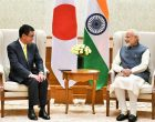 The Foreign Minister of Japan, Taro Kono calling on the Prime Minister, Narendra Modi