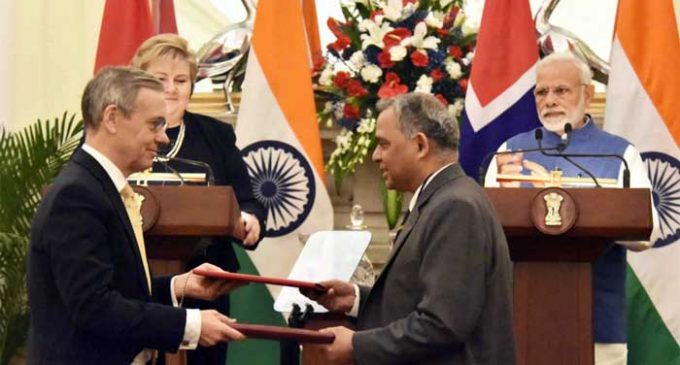 India, Norway to boost cooperation on SDGs, ocean economy