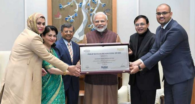 Modi honoured with first-ever Philip Kotler Presidential award