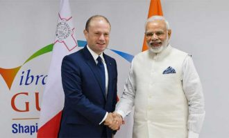 The Prime Minister, Narendra Modi meeting the Prime Minister of Malta, Joseph Muscat