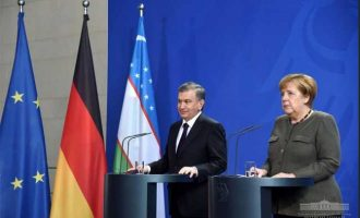 Shavkat Mirziyoyev held negotiations with Angela Merkel