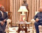 The President of the Republic of South Africa, Matamela Cyril Ramaphosa meeting the President, Ram Nath Kovind