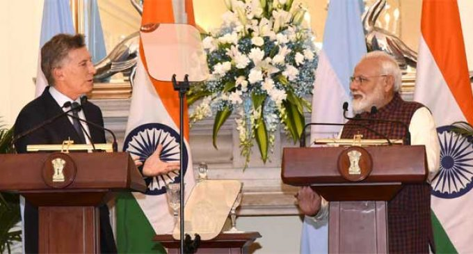 India, Argentina reiterate commitment to fight terrorism