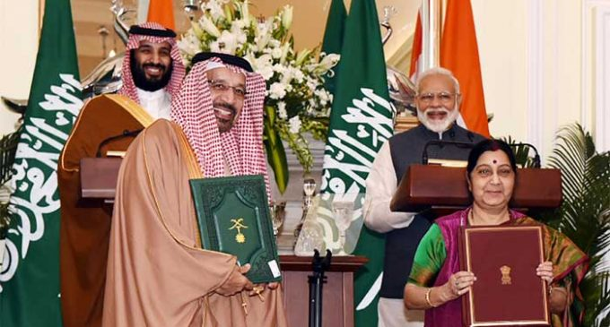 India, Saudi Arabia agree on need to exert pressure on countries backing terror
