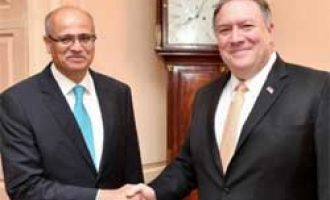 US stands with India on fighting terrorism, Pompeo tells Gokhale